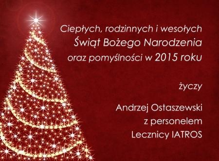 Życzenia świąteczne od Kliniki Położniczo - Chirurgicznej IATROS